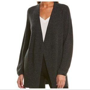 NWT Eileen Fisher Sparkle Wool-Blend Cardigan